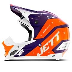 Capacete Motocross TH1 Jett Evolution 2 2019 Azul/Laranja