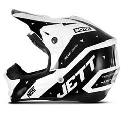 Capacete Motocross TH1 Jett Evolution 2 2019 Branco/Preto