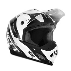 Capacete Motocross TH1 Jett Evolution 2 2019 Branco/Preto