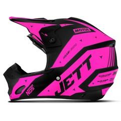 Capacete Motocross TH1 Jett Evolution 2 2019 Preto/Rosa