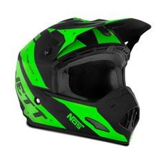 Capacete Motocross TH1 Jett Evolution 2 2019 Preto/Verde