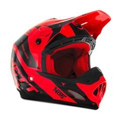 Capacete Motocross TH1 Jett Evolution 2 2019 Preto/Vermelho