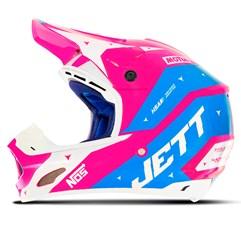 Capacete Motocross TH1 Jett Evolution 2 2019 Rosa/Azul Claro