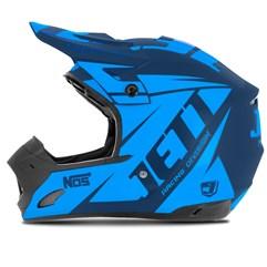 Capacete Motocross TH1 Jett Evolution Neon Azul/Azul Claro