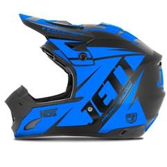 Capacete Motocross TH1 Jett Evolution Neon Azul Miami