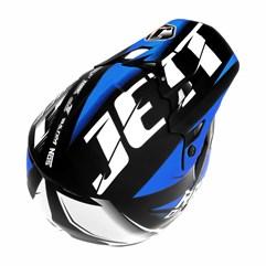 Capacete Motocross TH1 Jett Factory Edition Neon Azul Miami