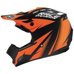 Capacete Motocross TH1 Jett Factory Edition Neon Laranja