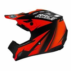 Capacete Motocross TH1 Jett Factory Edition Neon Vermelho