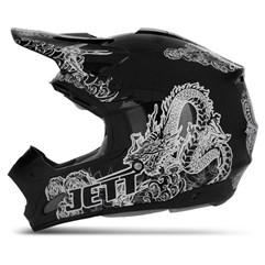 Capacete Motocross TH1 Jett Tattooed Preto