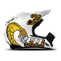 Capacete Motocross TH1 Jett Veneno Branco