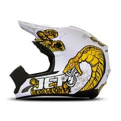 Capacete Motocross TH1 Jett Veneno Branco/Amarelo