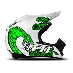 Capacete Motocross TH1 Jett Veneno Branco/Verde