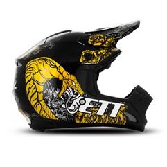 Capacete Motocross TH1 Jett Veneno Preto