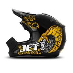 Capacete Motocross TH1 Jett Veneno Preto/Amarelo