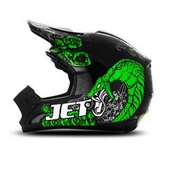 Capacete Motocross TH1 Jett Veneno Preto/Verde