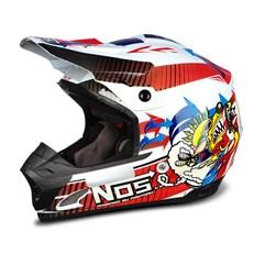 Capacete Motocross TH1 NOS Branco