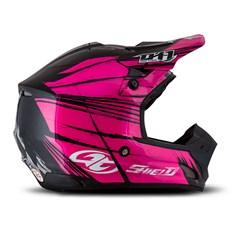 Capacete Motocross TH1 Shield Preto e Rosa