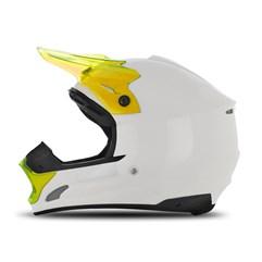 Capacete Motocross TH1 Solid Branco/Amarelo