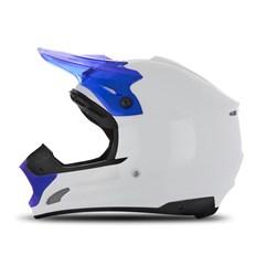 Capacete Motocross TH1 Solid Branco/Azul
