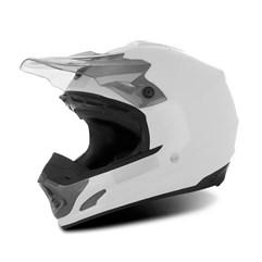 Capacete Motocross TH1 Solid Branco/Fumê