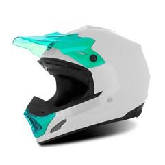 Capacete Motocross TH1 Solid Branco/Verde