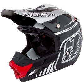 Capacete Motocross Troy Lee SE3 Brasil Black