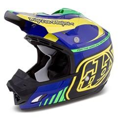 Capacete Motocross Troy Lee SE3 Brasil Roxo