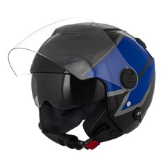 Capacete New Atomic Superbike Preto/Azul