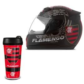 Capacete Pro Tork Evolution G4 Flamengo + Copo Térmico