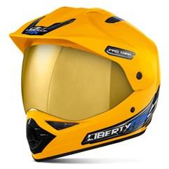 Capacete Pro Tork Liberty MX Pro Vision Viseira Dourada