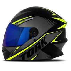 Capacete Pro Tork Moto Fechado R8 Amarelo Viseira Iridium