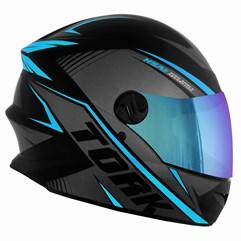 Capacete Pro Tork Moto Fechado R8 Azul Claro Viseira Camaleão