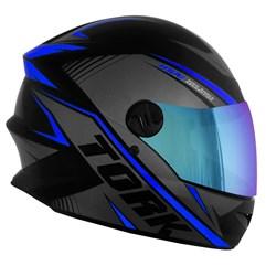 Capacete Pro Tork Moto Fechado R8 Azul Viseira Camaleão