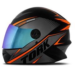 Capacete Pro Tork Moto Fechado R8 Laranja Viseira Camaleão