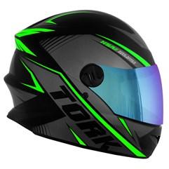 Capacete Pro Tork Moto Fechado R8 Verde Viseira Camaleão