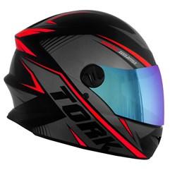Capacete Pro Tork Moto Fechado R8 Vermelho Viseira Camaleão