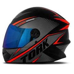 Capacete Pro Tork Moto Fechado R8 Vermelho Viseira Iridium
