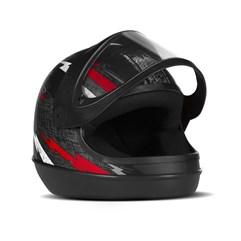 Capacete Pro Tork Super Sport Moto Preto/Vermelho
