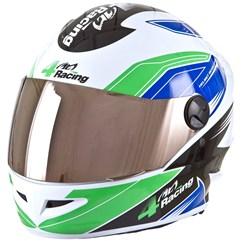 Capacete Protork 4 Racing Blue Green