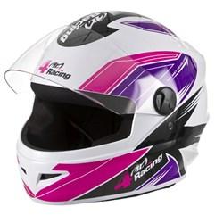 Capacete Protork 4 Racing Pink