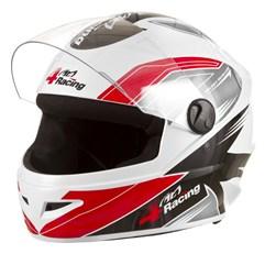 Capacete Protork 4 Racing Red Gray