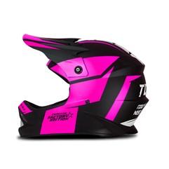 Capacete Protork Cross Infantil Factory Edition Neon Rosa