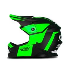 Capacete Protork Cross Infantil Factory Edition Neon Verde