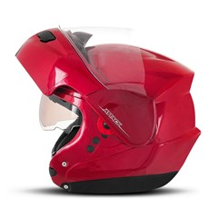 Capacete Robocop Articulado Pro Tork Attack Solid Vermelho