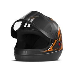 Capacete Super Sport Moto 2019 Brilhante Laranja