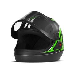 Capacete Super Sport Moto 2019 Fosco Verde