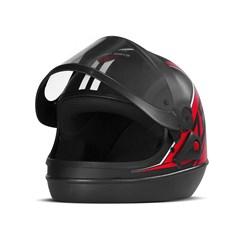 Capacete Super Sport Moto 2019 Fosco Vermelho