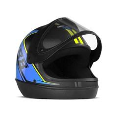 Capacete Super Sport Moto 2019 Fundo Preto Brilhante