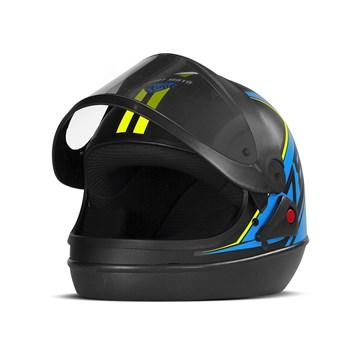 Capacete Super Sport Moto 2019 Fundo Preto Fosco