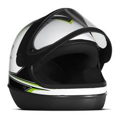 Capacete Super Sport Moto Branco/Verde